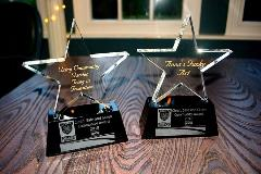 Community Champion 2018 Award Trophies