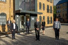 Our leadership team outside our new Magenta Court development in Apsley